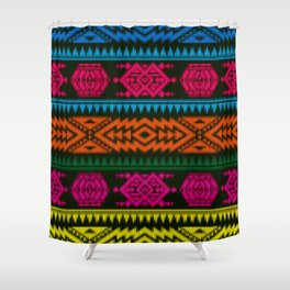 Ethnic Knitted pattern Shower Curtain