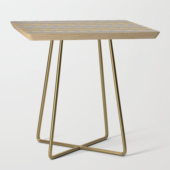 Granny's Fairisle - Honey Yellow Side Table