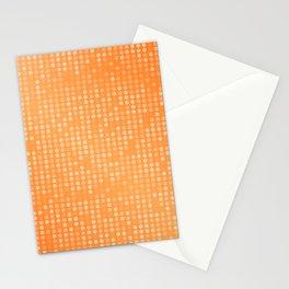 Dotted Orange Background Design Stationery Cards