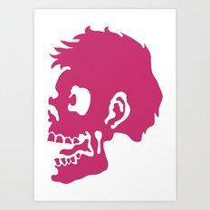 Zombie Head Art Print