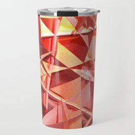 3D folded abstract Travel Mug