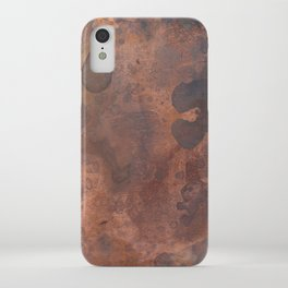 Tarnished, Stained and Scratched Copper Metal Texture Industrial Art iPhone Case