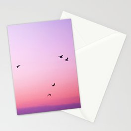 birds in the sky rose Stationery Cards