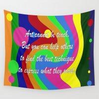 teacher Wall Tapestries featuring art teacher by Maria Julia Bastias