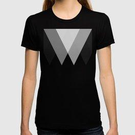 Sawtooth Inverted Blue Grey T-shirt