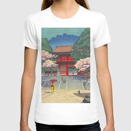 Asano Takeji Spring At Kurama Temple Vintage Japanese Woodblock Print Asian Art T-shirt