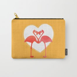 lovebirds - flamingos in love Carry-All Pouch