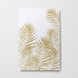 Fern Golden Metal Print