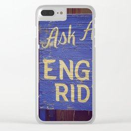 Engine Rides Clear iPhone Case