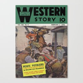 Street & Smith's Western Story - February 1941 Canvas Print