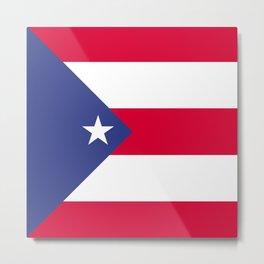 Puerto Rico flag emblem Metal Print