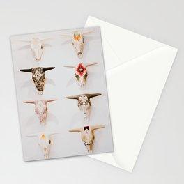 Bull Skulls - Mexican Folk Art Stationery Cards