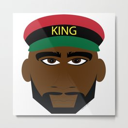 RBG/Pan-African King Metal Print