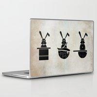 rabbits Laptop & iPad Skins featuring rabbits by gazonula
