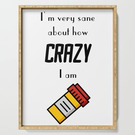 Carrie Fisher Crazy Quote Serving Tray