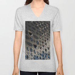 Metallic reflection Unisex V-Neck