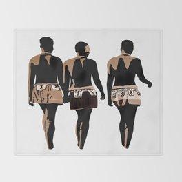 zulu sisters Throw Blanket