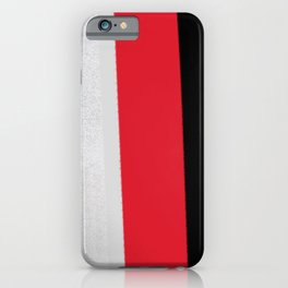 silver grey red black striped geometric minimal digital painting iPhone Case