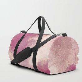 Mauve Dusk Abstract Cloud Design Duffle Bag