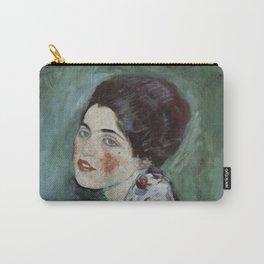 Stolen Art - Portrait of a Lady by Gustav Klimt Carry-All Pouch