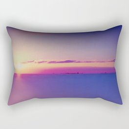 #Sunset on the #Atlantic #Ocean pastel #colors Rectangular Pillow