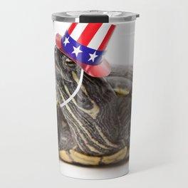 Patriotic Turtle Travel Mug