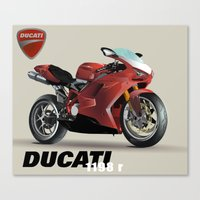 ducati Canvas Prints featuring Ducati by Ryan Miller