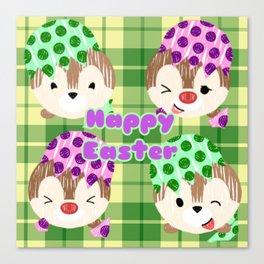 Easter Chipmunks Canvas Print