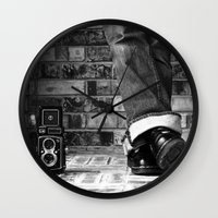 old school Wall Clocks featuring old school by Jennifer Townsend