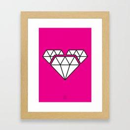 Diamonds Heart Framed Art Print