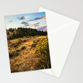 Wyoming Wildflowers Sunset Stationery Cards
