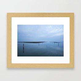 Double blue Framed Art Print