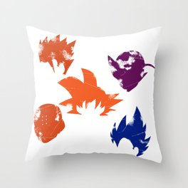 Z Fighters Throw Pillow
