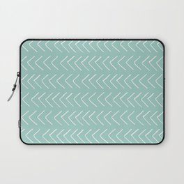 Hand painted pastel green white geometrical chevron Laptop Sleeve