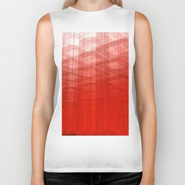 Abstract Red Structure Biker Tank