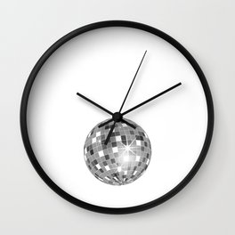 Rap Makes Me Miss Disco Ball Groovy Music Funny T-Shirt Wall Clock