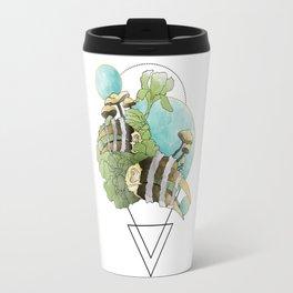 Hornbill Skulls - Green/Blue Travel Mug