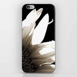 Sunflower-B&W iPhone Skin