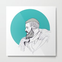 Ragnar Lothbrok / Vikings Metal Print
