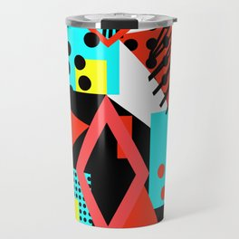 abstract multicolor shapes Travel Mug