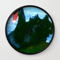 noir Wall Clocks featuring NOIR by FOXART  - JAY PATRICK FOX
