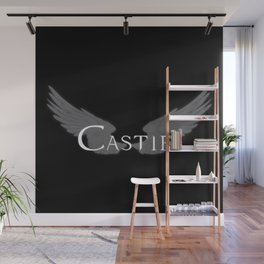 Castiel with Wings White Wall Mural