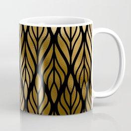 Havana Sultry Night Gold and Black Art Deco Coffee Mug