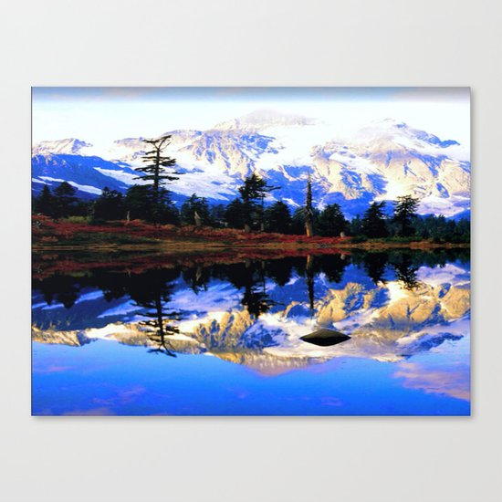 Glacier Mountains Canvas Print