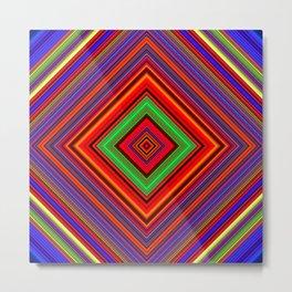 Multicolored Line Burst Pattern SB1 Metal Print