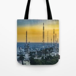 Guayaquil Aerial View from Window Plane Tote Bag