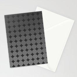 Blackk Circles Stationery Cards