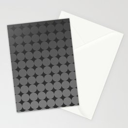 Blackk Circles Stationery Cards