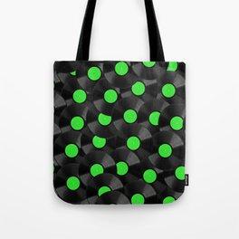 Vinyl Records Pattern (Green) Tote Bag