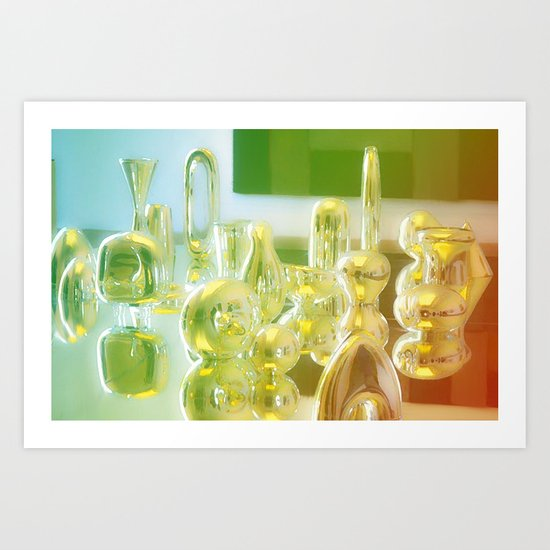 Metallic Color Block Art Print